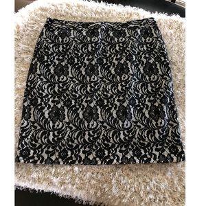 Worthington Black Lace Skirt Size 14